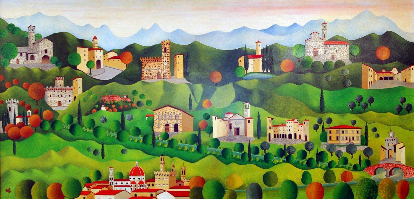 Il Mugello Dipinto di Rolando Mensi