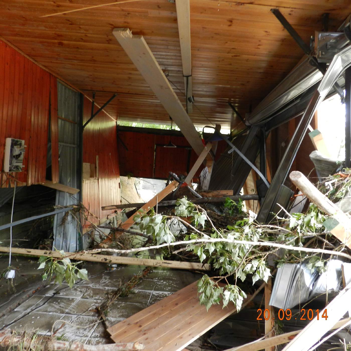 Il Lido Serena, a Scheggianico - FIrenzuola, distrutto dal Santerno