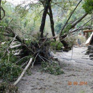 L'esterno del Lido Serena, a Scheggianico - Firenzuola, distrutto dal Santerno