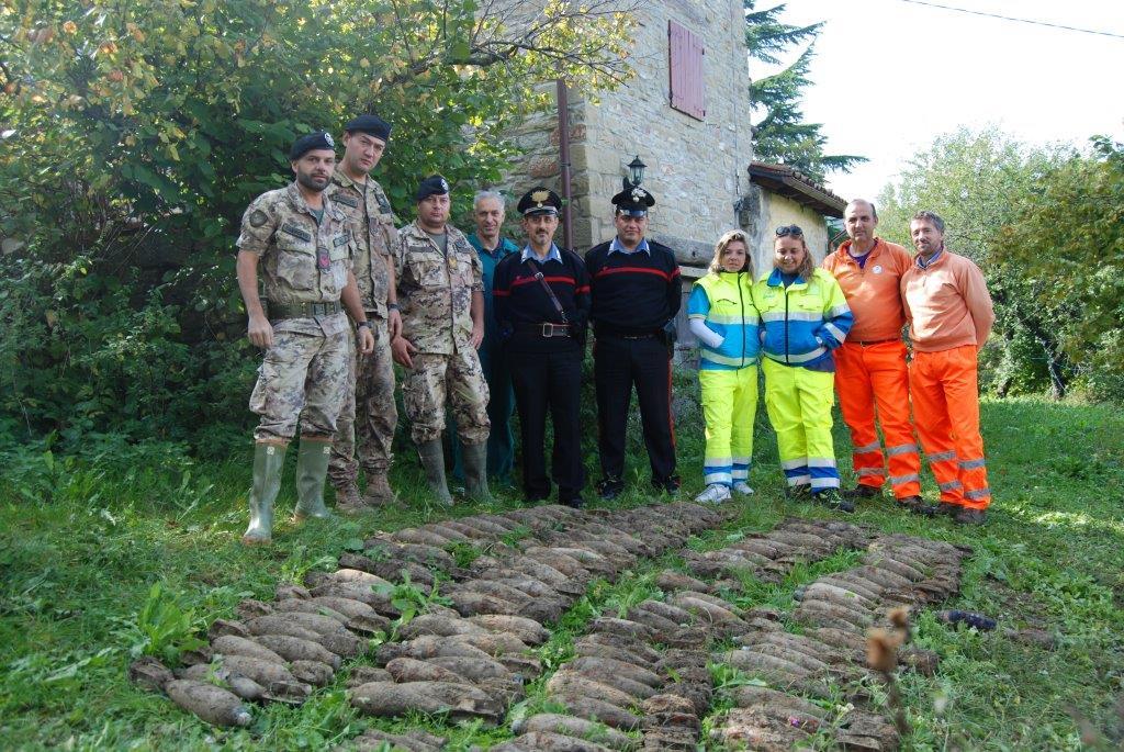 Le bombe ritrovate a Marradi
