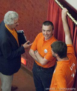 Carlo Incagli al teatro Giotto, elezioni 2009
