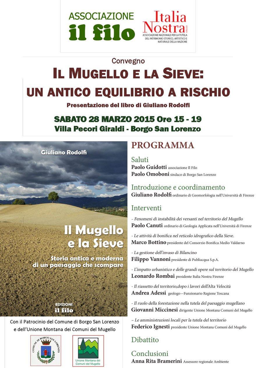 SMALL JPG MUGELLO e SIEVE Convegno Rodolfi 28 marzo 2015