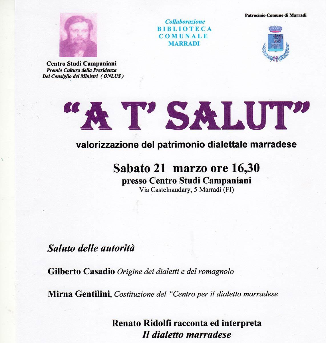 Primo appuntamento iniziativa dialetto Marradi