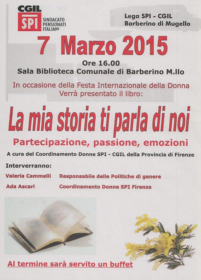 """Barberino, """"8 marzo e oltre: 'La mia storia ti parla di noi' """" @ Biblioteca Comunale"""
