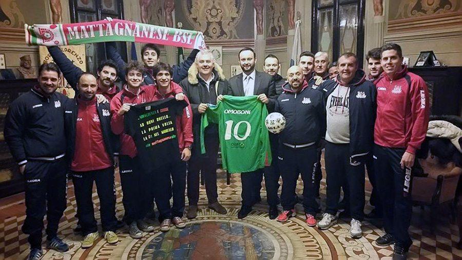 La Mattagnanese con il sindaco Omoboni