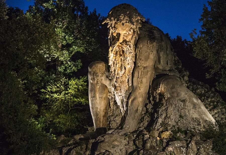 """Il """"Gigante"""" nel parco di Pratolino (Foto di Giacinto Silletti)"""