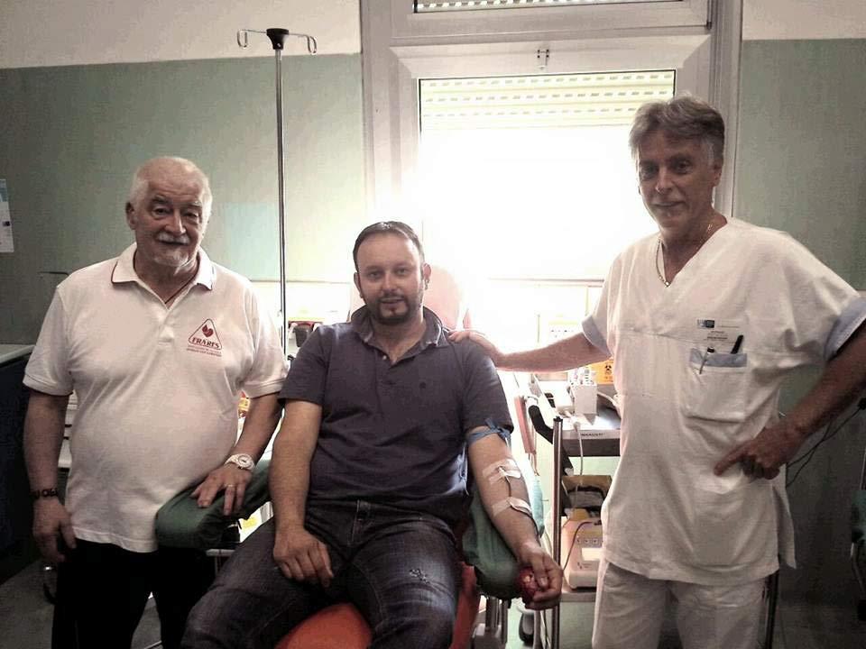 Il sindaco Paolo Omoboni al Centro Sangue di Borgo San Lorenzo