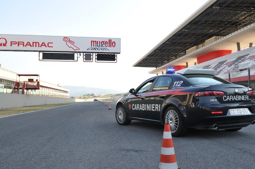 I Carabinieri all'Autodromo del Mugello