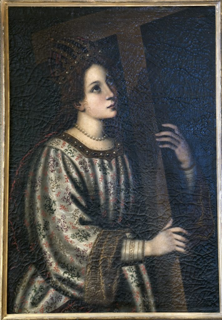 """""""Santa Elena imperatrice"""" – olio su tela, 100 x 70 attribuito all'ambiente di Matteo Rosselli (sec. XVII) (foto di Andrea Lapi © - riproduzione vietata)"""