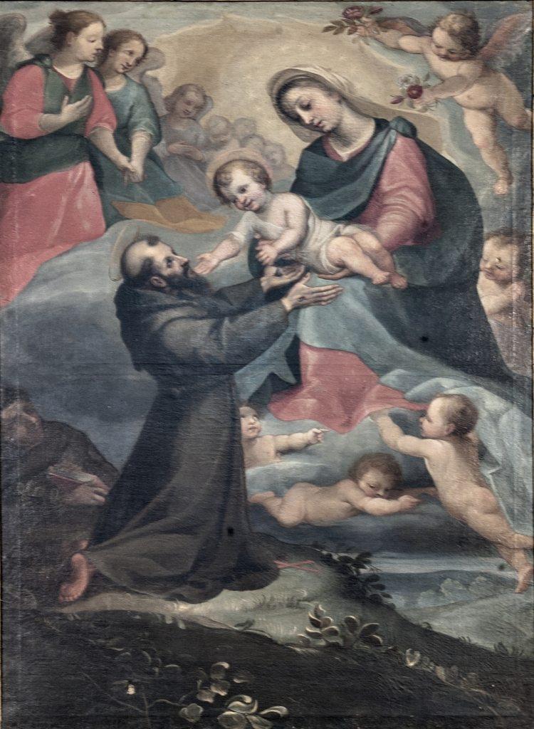 """""""La Madonna che porge il Bambino a San Francesco"""" Ignoto scuola italiana (sec. XVI) (foto di Andrea Lapi © - riproduzione vietata)"""