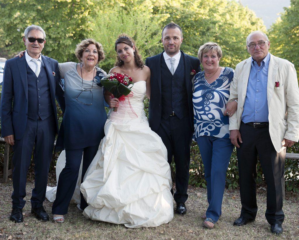 Lucia e Yuri con i genitori