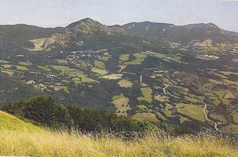 Oasi di Covigliaio con al centro Monte Beni