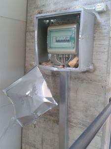 Il quadro elettrico della pista di Vicchio danneggiato