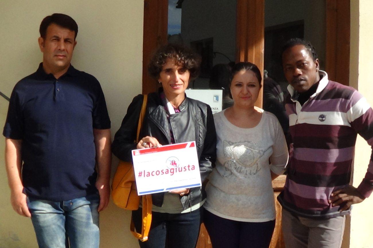 Fiammetta Capirossi in visita in un centro di accoglienza migranti a Borgo San Lorenzo