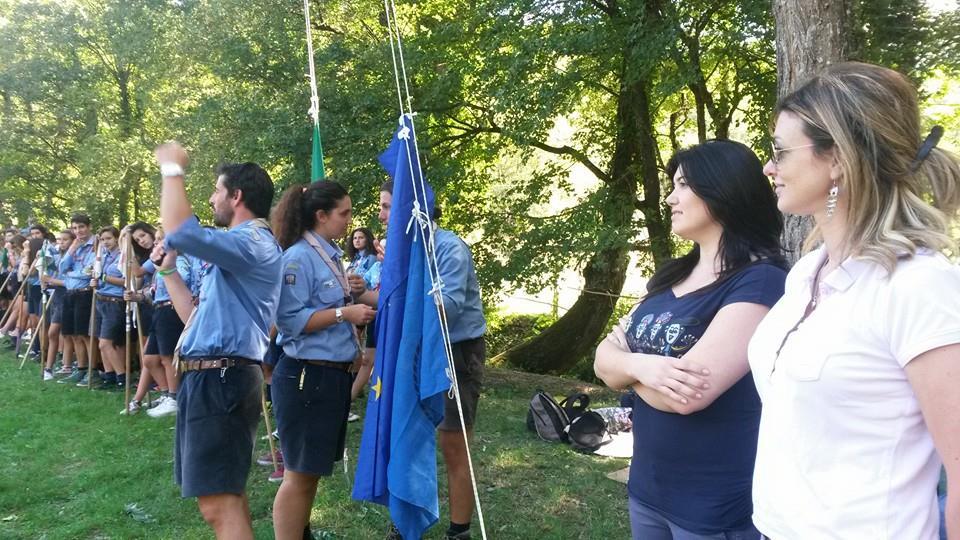 Gli assessori Becchi e Bonanni al raduno scout di Sant'Ansano