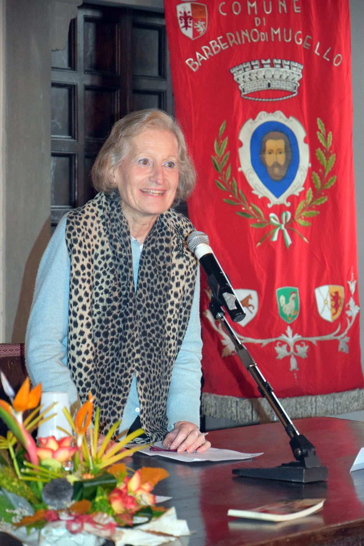 L'architetto Carla Giuseppina Romby durante il suo intervento per la presentazione del Castello