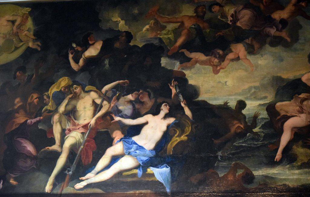 Uno dei dipinti del salone principale del Castello di Barberino