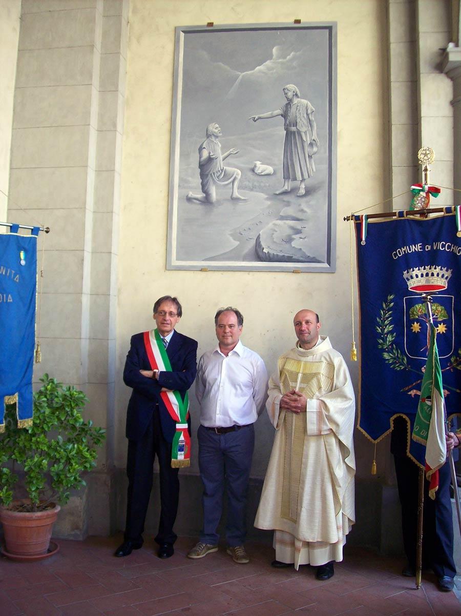 """26 giugno 2010, Inaugurazione di """"Battesimo"""" alla Pieve di San Giovanni a Vicchio"""