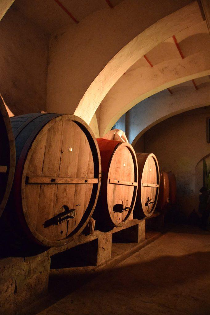 La cantina del Castello di Barberino di Mugello