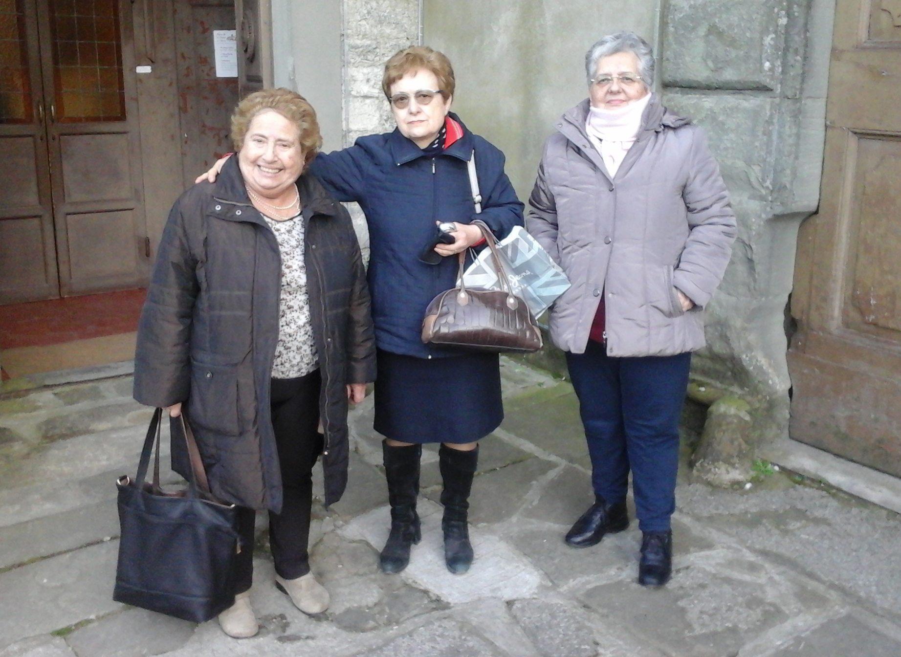 Mani di Donna. Da sinistra, Maria Teresa Berna, Cesarina Biagioni e Sandra Mirannalti.