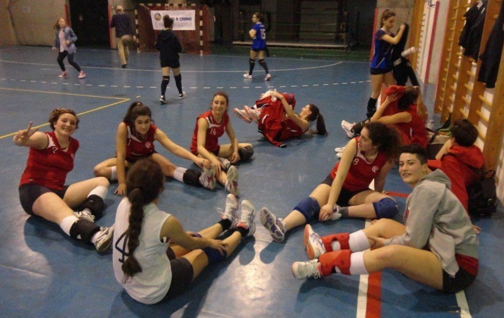 PLe ragazze della Pallavolo Polisportiva San Piero a Sieve, a Poggio a Caiano