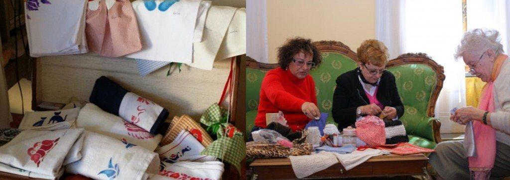 Ricami del Mugello, mani di donna al lavoro