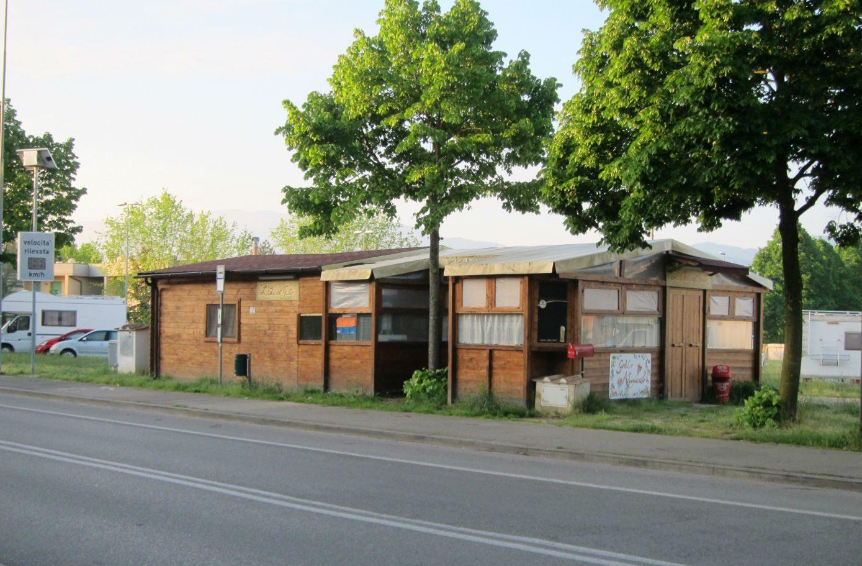 Il chiosco in viale Kennedy a Borgo San Lorenzo