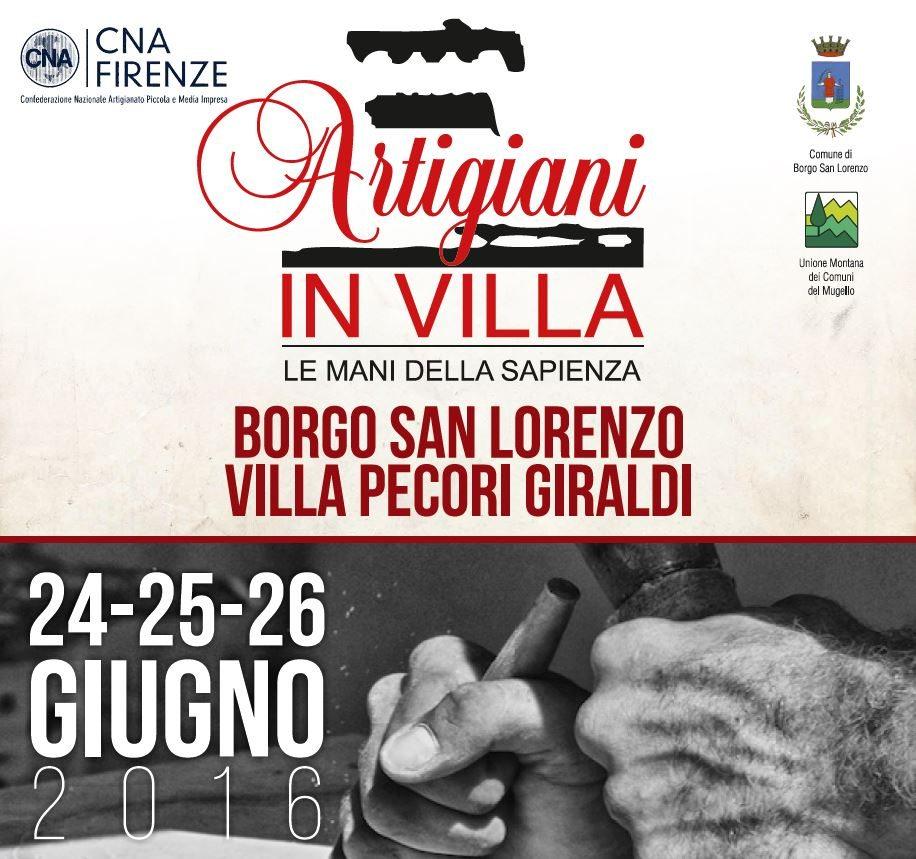 locandina Artigiani in Villa 2016