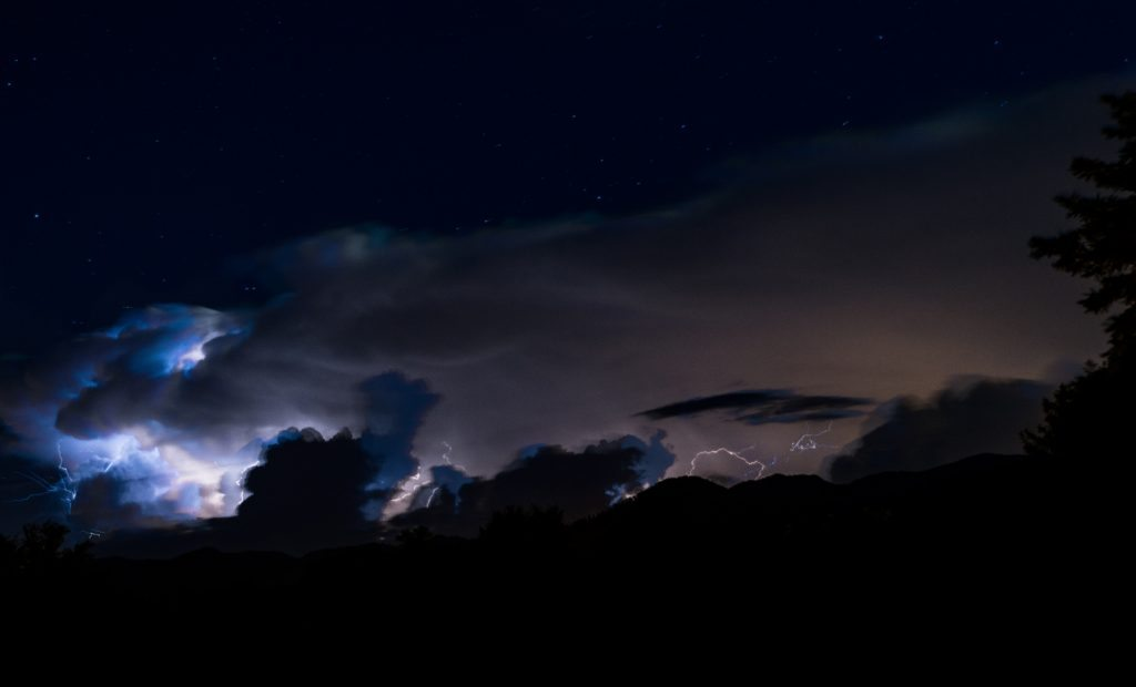 Foto tempesta mugello fulmini