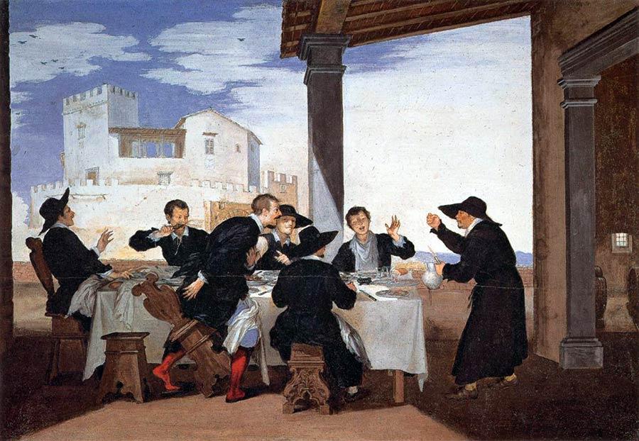 La burla del Pievano Arlotto ai commensali. 1643-44, opera di Baldassarre Franceschini detto il Volterrano