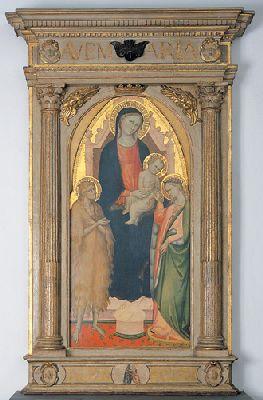 """Bicci di Lorenzo """"Matrimonio mistico di Santa Caterina"""" (1430)"""