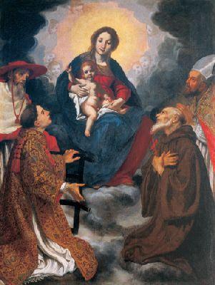 """Jacopo Vignali """"Madonna con bambino e santi"""" (1632)"""