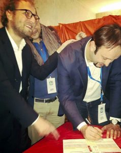 Omoboni firma l'iscrizione al PD