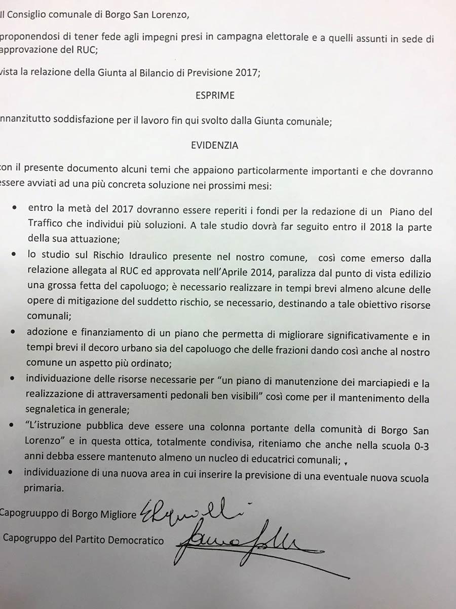 ruc-documento-maggioranza-impegni-sindaco-squilloni-spacchini
