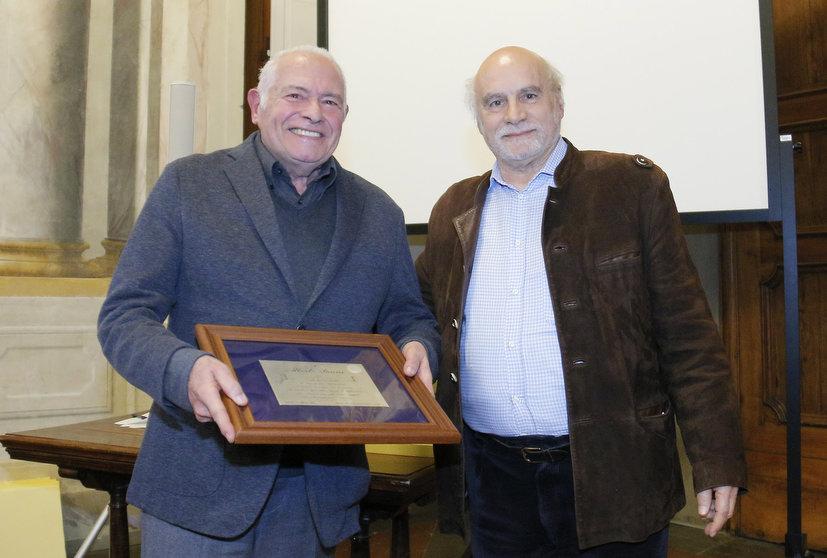 Alberto Bruni, a sinistra, con Alfredo Scanzani