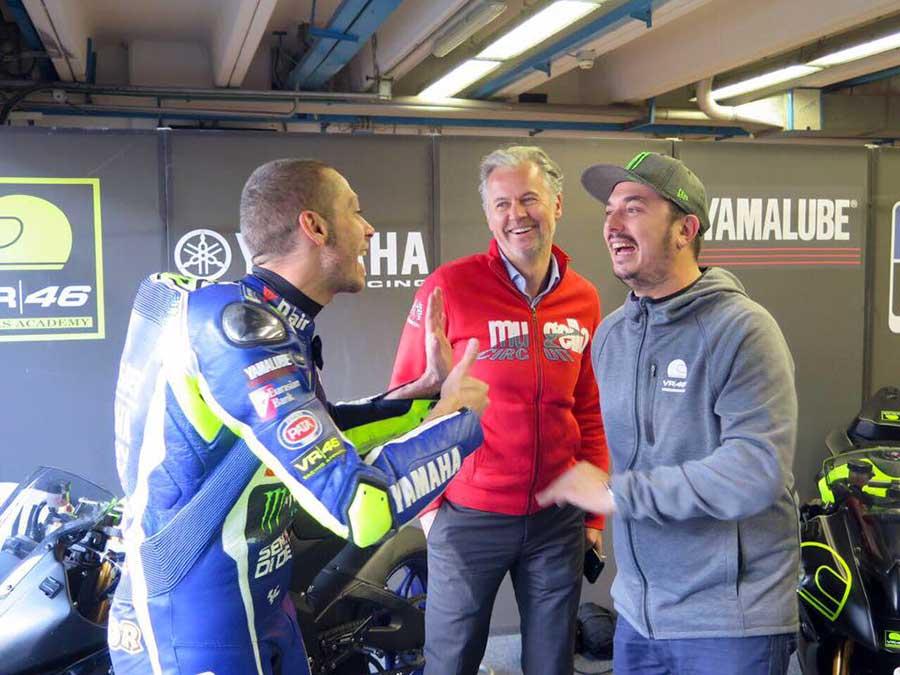 Valentino Rossi a colloquio con l'Amministratore Delegato del Mugello Paolo Poli