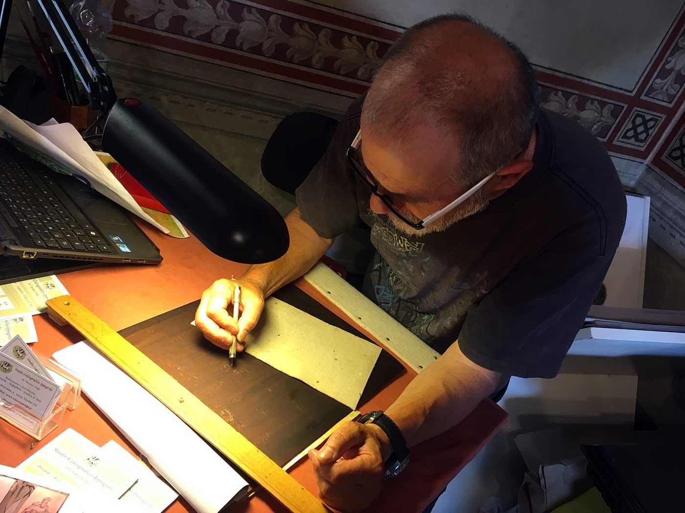 Il maestro d'arte Vincenzo Volpi