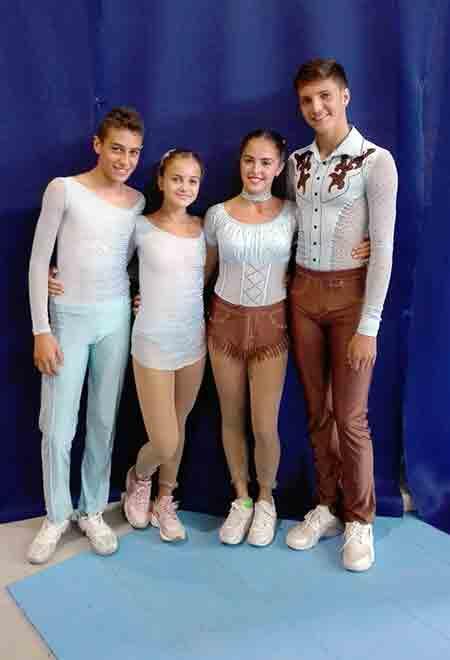 Claudio Casini e Angelica Bertoldi insieme a Tommaso Stanzani e Micol Mills, campioni europei