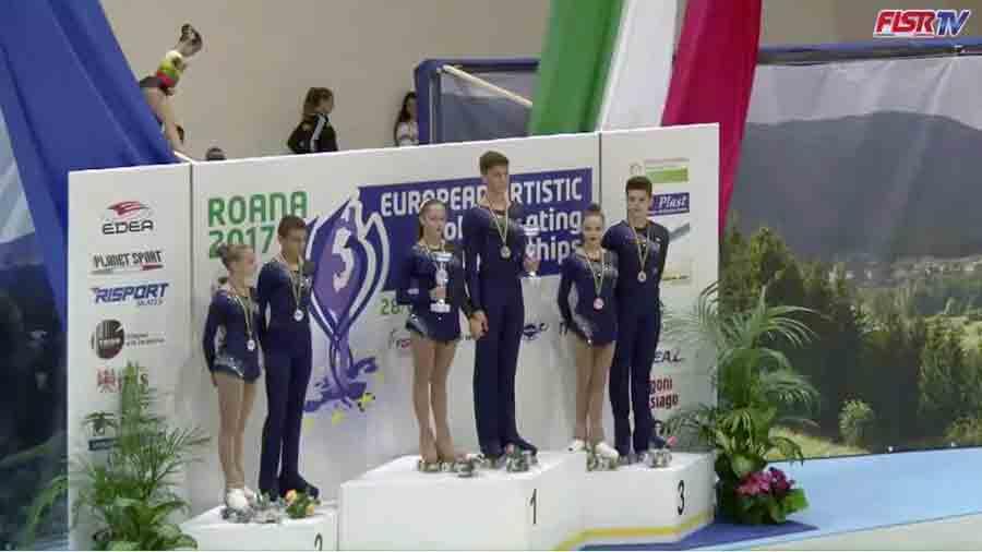 Il podio agli europei