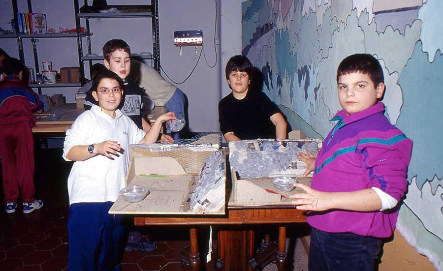 I ragazzi del Grim al Centro Giovanile a Borgo San Lorenzo, anno 2003