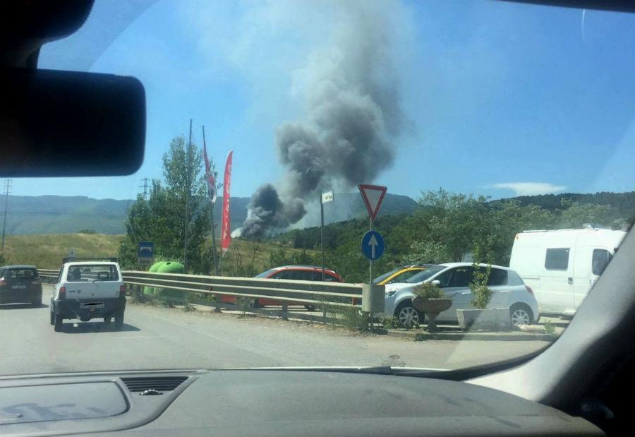 incendio a1 bisarca in fiamme lug 2017