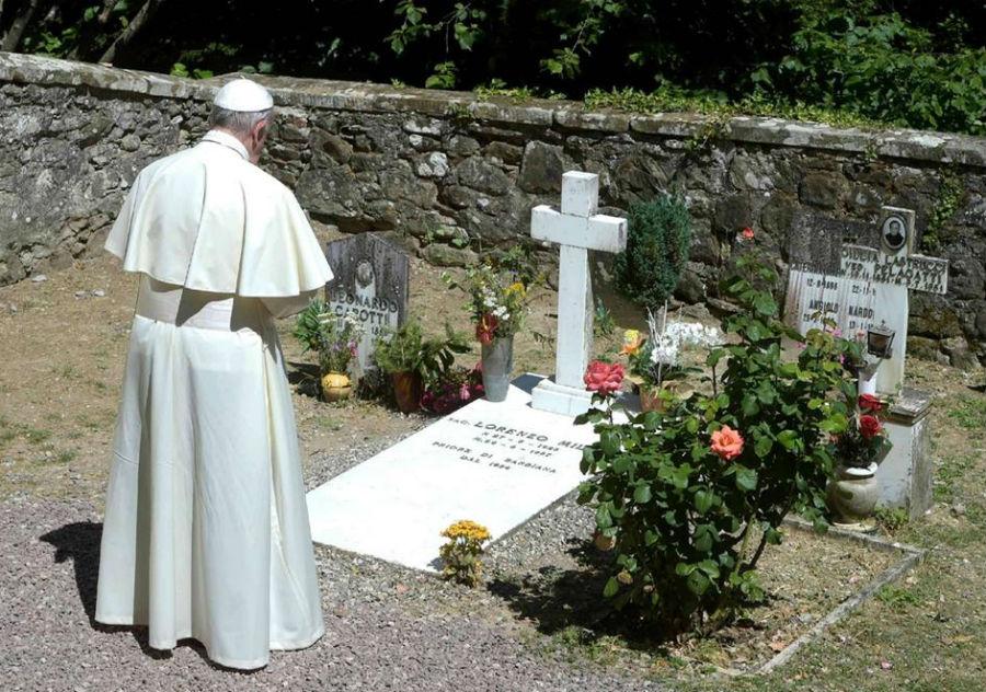 papa francesco barbiana tomba