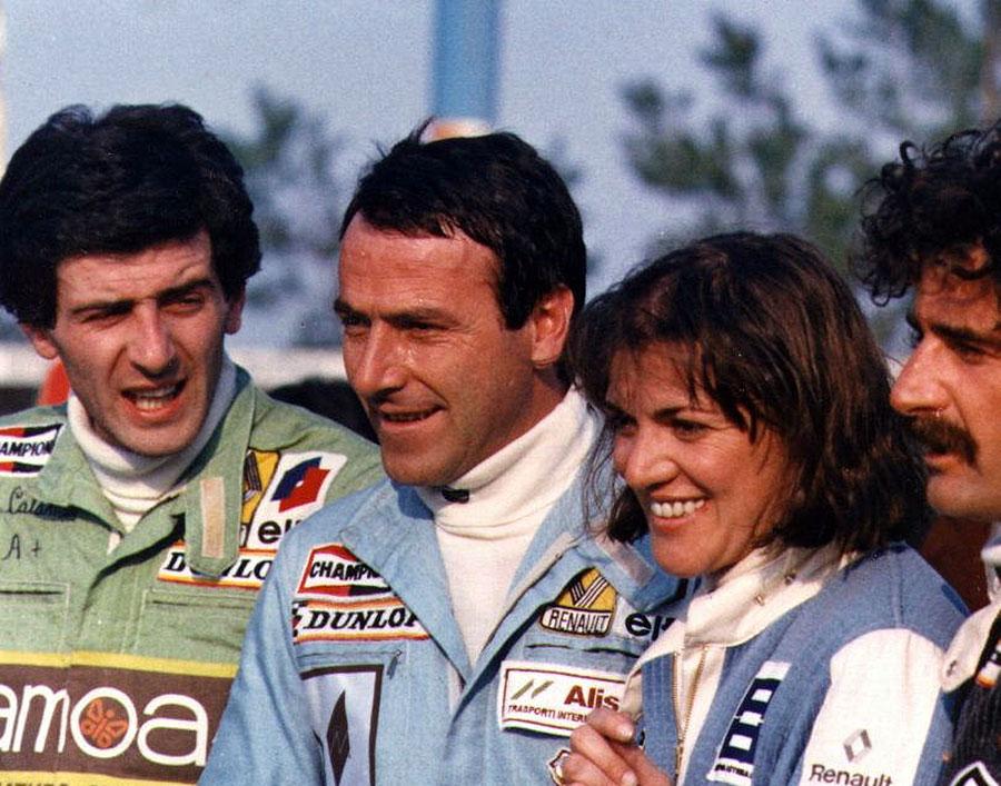 Coppa Renault 5, 1979. Da sinistra, Luigi Calamai, Annino Conti, Ivana Giustri e Titto Salvatori
