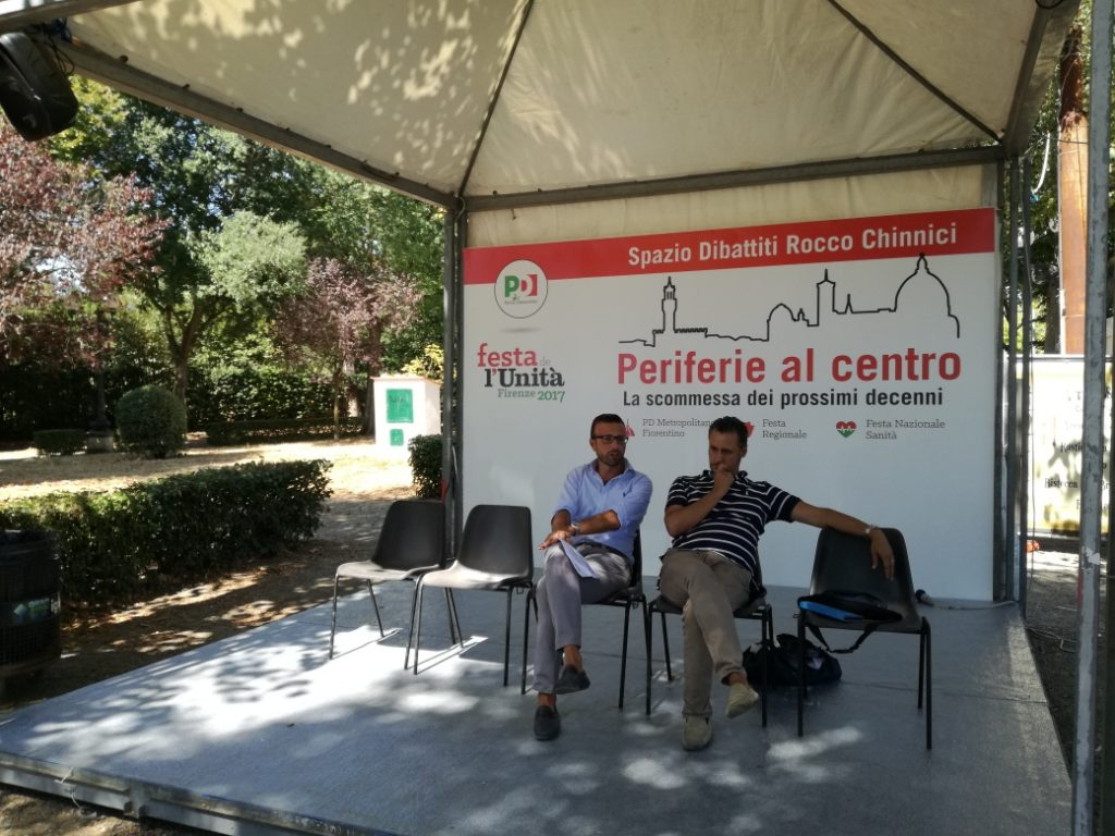 Antonio Mazzeo, vicesegretario Pd Toscana e Fabio Incatasciato, segretario Pd Firenze metropolitano presentano la Festa dell'Unità di Firenze