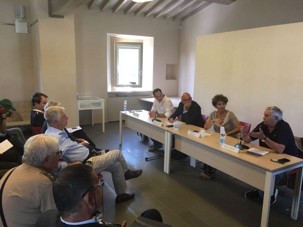 L'inaugurazione della zona a regolamento specifico per la pesca sportiva a Bilancino