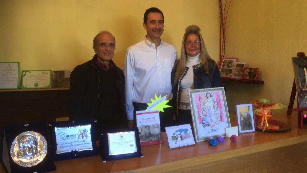 Da destra: Tiziana Lorini, Fabio Boni e Massimo Principe