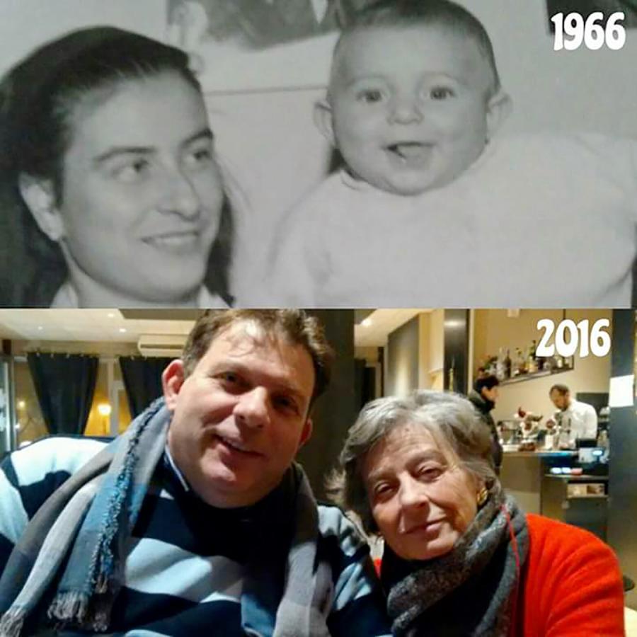 Massimo con la sua mamma Marta