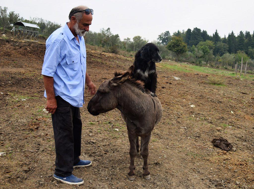 Paolo Ballini, proprietario dell'agriturismo Massoserpente
