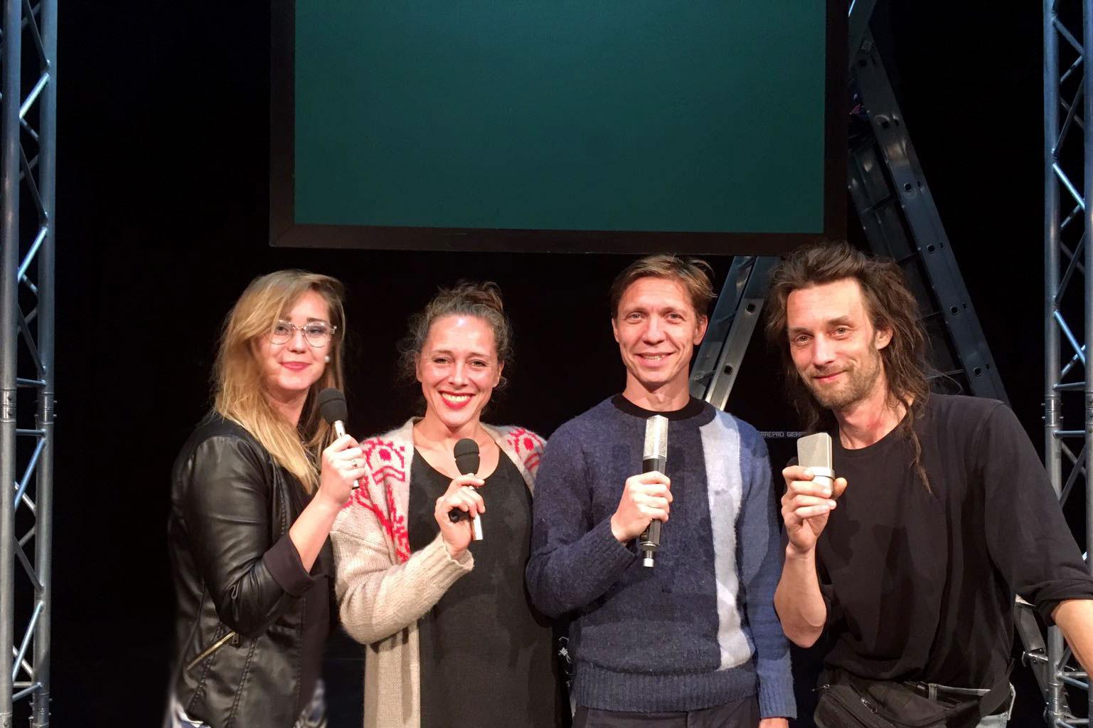 Milena Kotova con gli artisti di BigMouth