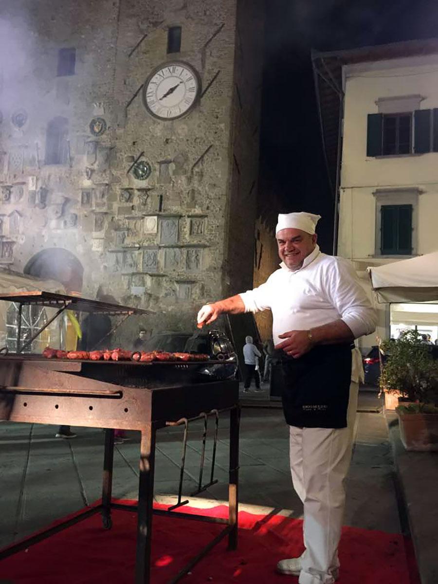 Scarperia Fest 2017. Luca Parrini alla brace
